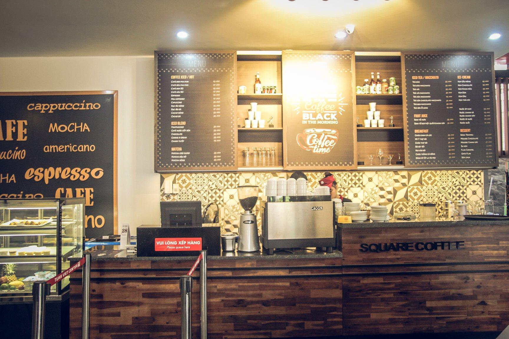 Không gian quán Square Coffee