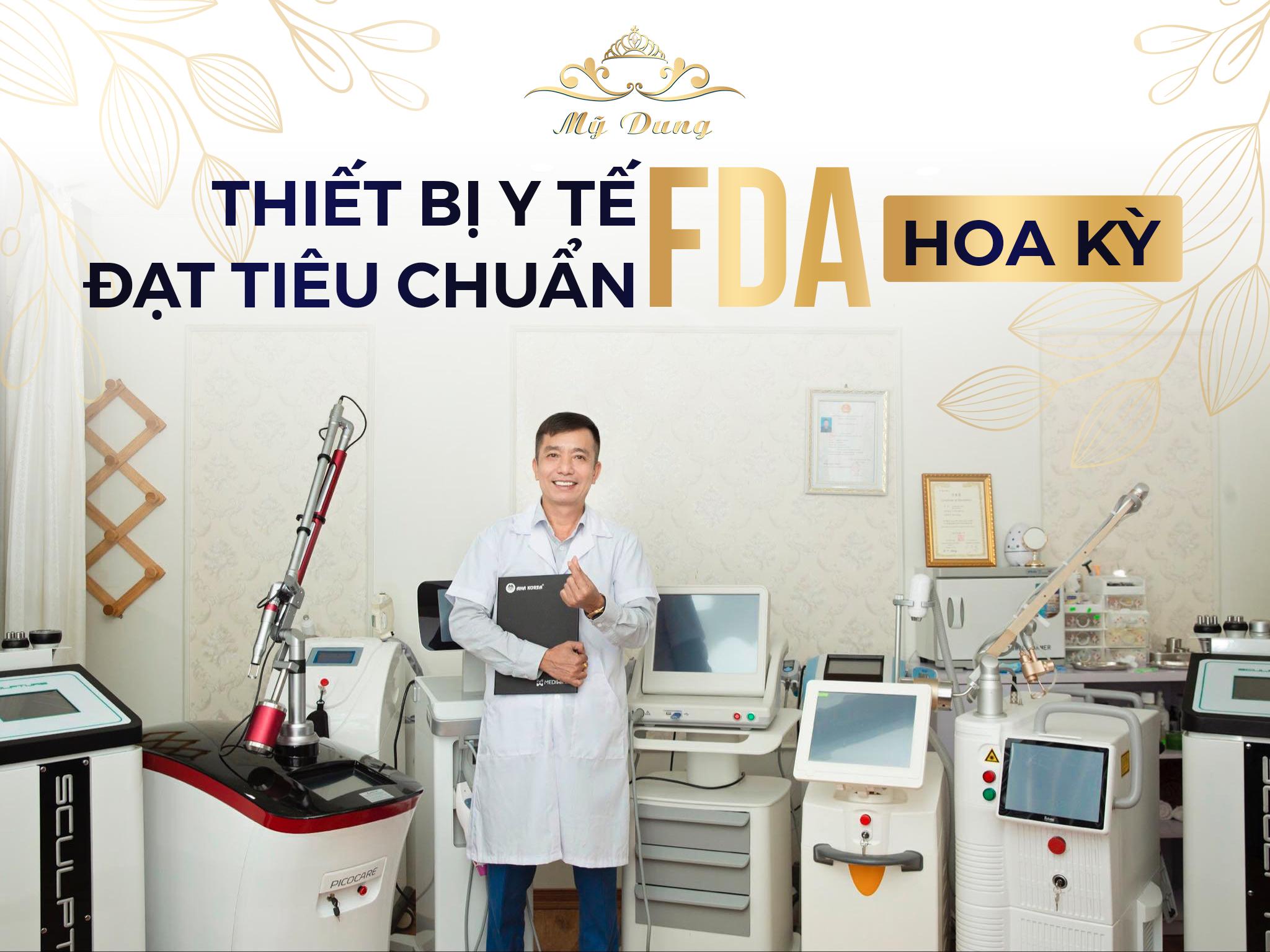 100% Thiết bị y tế đạt tiêu chuẩn FDA Hoa Kỳ