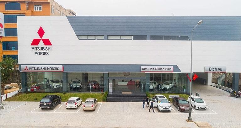 Showroom Mitsubishi Quảng Bình nhìn từ bên ngoài