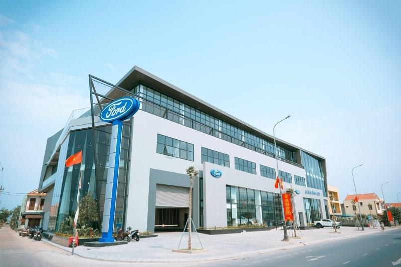 Showroom Ford Quảng Bình nhìn từ ngoài