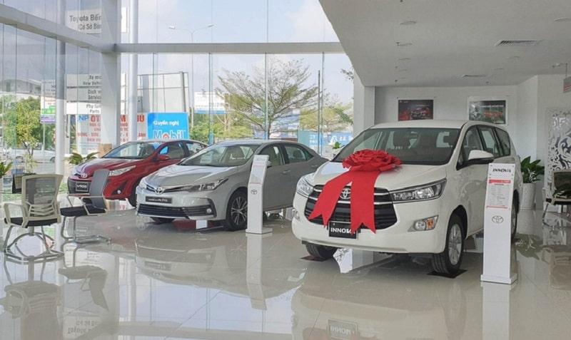 Bên trong showroom Toyota Quảng Bình