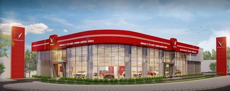 Showroom VinFast Quảng Bình hiện đại và cao cấp
