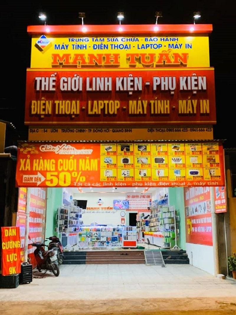 Cửa hàng Mạnh Tuấn bán laptop Quảng Bình
