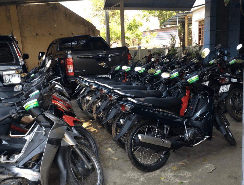 Dịch vụ cho thuê xe máy của anh Tùng - thuê xe Quảng Bình