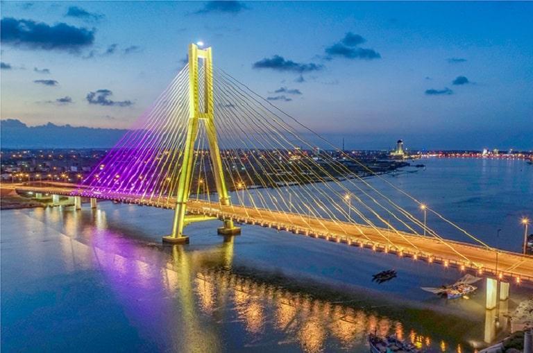 Cầu Nhật Lệ 2 - điểm nhấn mỹ quan của đô thị nam Đồng Hới