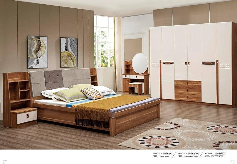 Căn phòng ngủ với gam màu hài hòa tại nội thất Thu Hiền - nội thất Quảng Bình