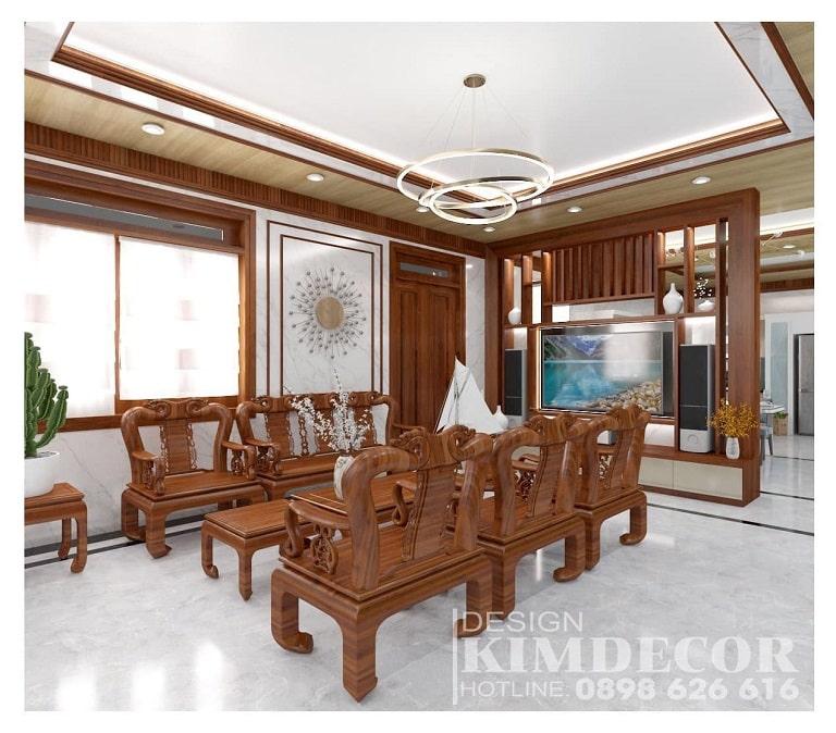 Gian phòng khách của Kim Decor - nội thất Quảng Bình vô cùng sáng sủa